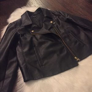 J Crew Faux Leather Jacket